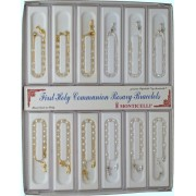 12 Piece Display of Assorted Communion Rosary Bracelets English or French