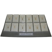 Gold Plated Crosses with Chain 24 Piece Display