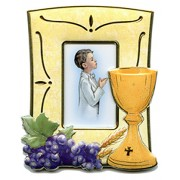Communion Picture Frame Boy cm.12.5x10 - 4 3/4x 4""