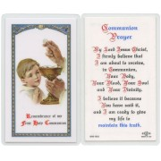 "Communion Prayer- Boy English Text Prayer Card cm.6.6x 11.5 - 2 1/2""x 4 1/2"""