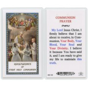 "Communion Prayer English Text Prayer Card cm.6.6x 11.5 - 2 1/2""x 4 1/2"""