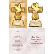 Confirmation English Gift Card with Wood Confirmation Plaque