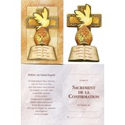 Confirmation French Gift Card with Wood Confirmation Plaque