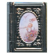 "Metal Box Booklet Small Baptism cm.5x4- 2""x 1 3/4"""