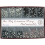 12 Piece Assorted Communion Rosary Display in English or French