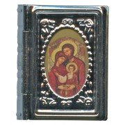 "Metal Box Booklet Small Holy Family cm.5x4- 2""x 1 3/4"""