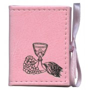 "Mini Communion Book Box Velvet Pink cm.7x5.5 - 2 3/4""x2 1/4"""