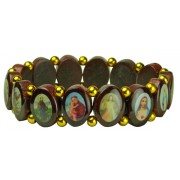 Multi-Saints Wood Elastic Bracelet Classic Model Small