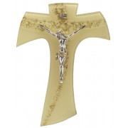Gold Murano with Gold Murano Inlay Crucifix cm.16 - 6 1/4""