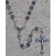 First Holy Communion Rosary Grey 6mm