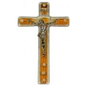 """Topaz Murano Crucifix cm.9.5x16 - 3 3/4""""x 6 1/4"""""""