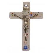 """Opal Murano Crucifix cm.6.5x10.5 x 2 1/2"""" x 4"""""""
