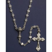 Communion Rosary Imitation Mother of Pearl Rosary Simple Link 3mm