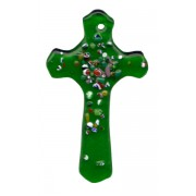 "Emerald Murano Cross Long cm.5 - 2"""