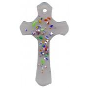 "Opal Murano Cross Long cm.5 - 2"""