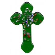 "Emerald Murano Cross Long cm.4- 1 3/4"""