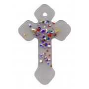 "Opal Murano Cross Long cm.4- 1 3/4"""