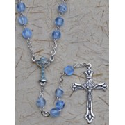 Communion Rosary Blue 6mm