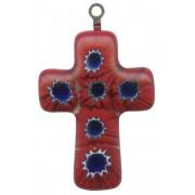 """Murano Venetian Glass Cross Hand Made Red cm.3- 1 1/4"""""""