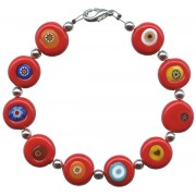 Boxed Red Murano Bracelet with Clasp