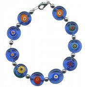 Boxed Blue Murano Bracelet with Clasp