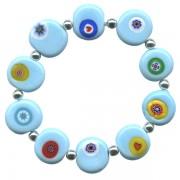 Blue Elastic Murano Bracelet