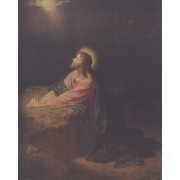"Jesus Praying High Quality Print cm.20x25- 8""x10"""