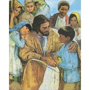 "Jesus and Children High Quality Print cm.20x25- 8""x10"""