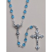 Communion Moonstone Rosary Simple Link 4mm Blue