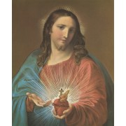 "Sacred Heart of Jesus High Quality Print with Gold cm.20x25- 8""x10"""