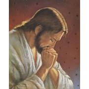 "Jesus Praying High Quality Print with Gold cm.20x25- 8""x10"""