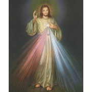 "Divine Mercy High Quality Print with Gold cm.20x25- 8""x10"""