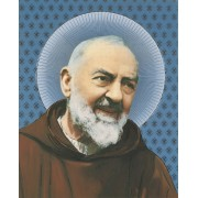 "Padre Pio High Quality Print with Gold cm.20x25- 8""x10"""