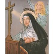 "St.Rita High Quality Print with Gold cm.20x25- 8""x10"""