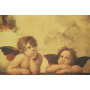 "Two Angels High Quality Print cm.20x25- 8""x10"""
