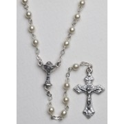 High Quality Imitation Pearl Rosary Chalice Simple Link 4mm White