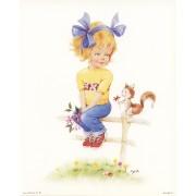 "Little Girl High Quality Print cm.20x25- 8""x10"""