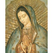 "Guadalupe High Quality Print with Gold cm.20x25- 8""x10"""
