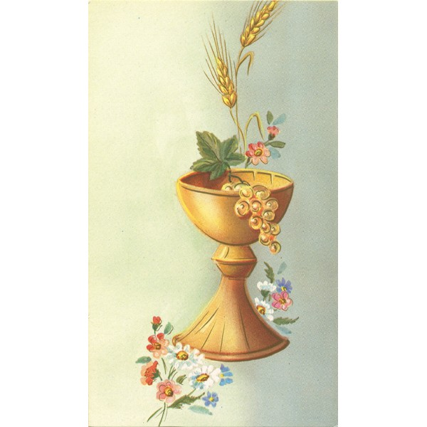 Communion Symbol Holy Card Blank Cm7x12 2 34 X 4 34 Monticelli