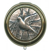 Confirmation Metal Gold Plated Pyx with Pewter Picture mm.50- 2""
