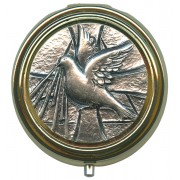 Confirmation Metal Gold Plated Pyx with Pewter Picture mm.60- 2 1/2""