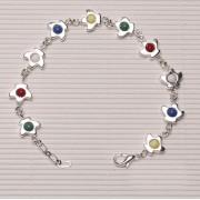 Rosary Bracelet Silver Plated Dove
