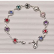 Missionary Rosary Bracelet Silver Plated with Crystal Insert