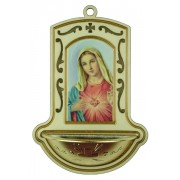"Immaculate Heart of Mary White Water Font cm.9x13 - 3 1/2""x5"""