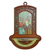 "Holy Family Brown Water Font cm.9x13 - 3 1/2""x5"""