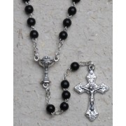 Rosary Wood Chalice 3mm Simple Link Black