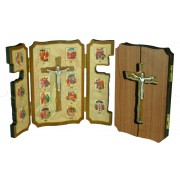"Via Crucis Plaque cm.12x15.5 - 4 3/4"" x 6 1/4"""