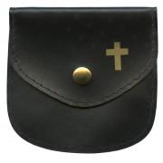 "Rosary Pouch Black cm.8x8- 3 1/4""x 3 1/4"""