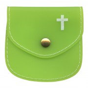 "Rosary Pouch Emerald cm.8x8 - 3 1/4"" x 3 1/4"""