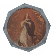 Assumption Clear Octagon Rosary Box cm.5.4 - 2 1/8""